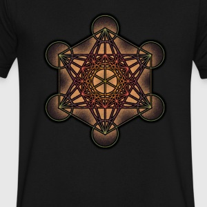 Metatron's Cube - Sacred Geometry Symbol - Men's V-Neck T-Shirt by Canvas