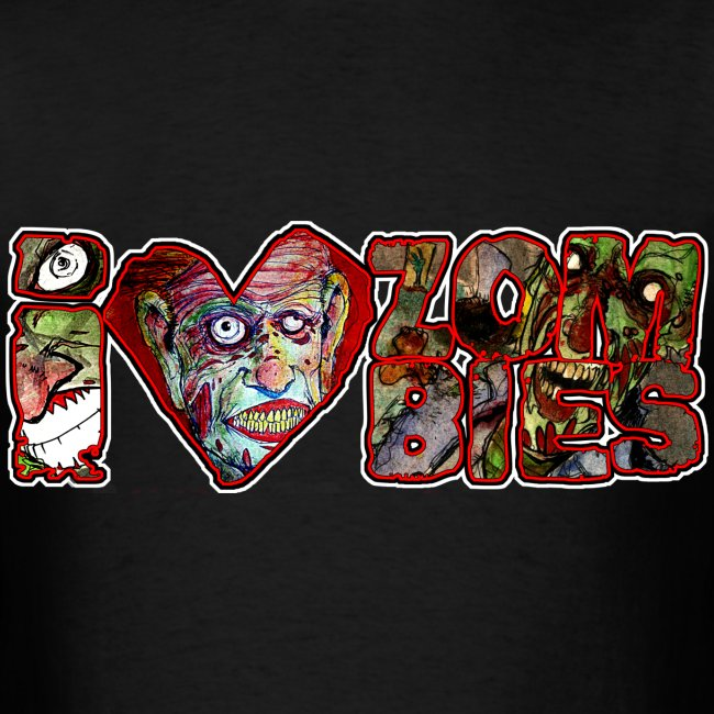 i love zombies horizontal