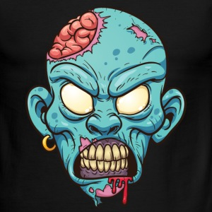 Zombie head  - Men's Ringer T-Shirt