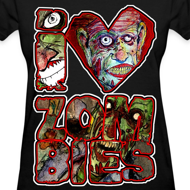 womens - love zombies square