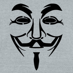 Guy Fawkes Mask - Unisex Tri-Blend T-Shirt by American Apparel