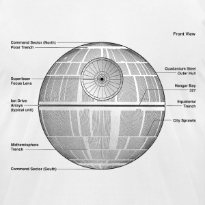 Death Star Diagram - Men's T-Shirt by American Apparel