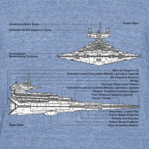Star Destroyer diagram - Unisex Tri-Blend T-Shirt by American Apparel