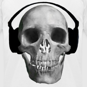 Skull and Music - Men's T-Shirt by American Apparel