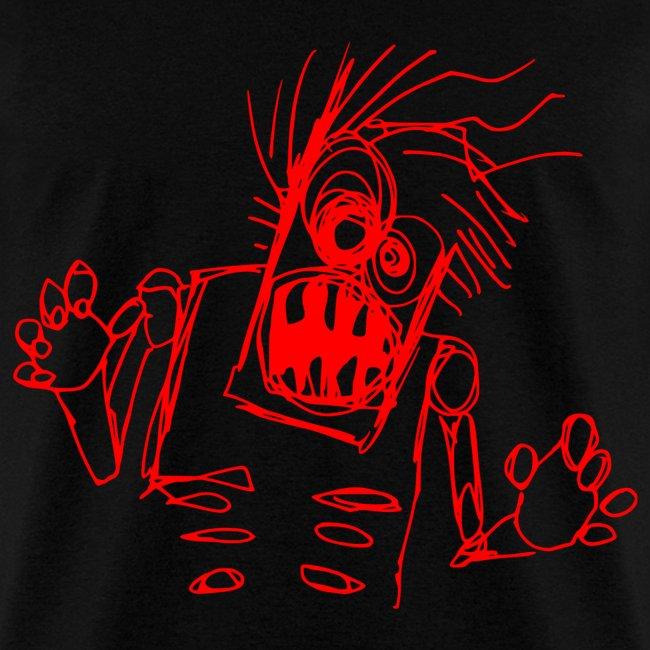 mens - zombie doodle