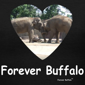 Forever Buffalo Love T-shirt - Women's V-Neck T-Shirt