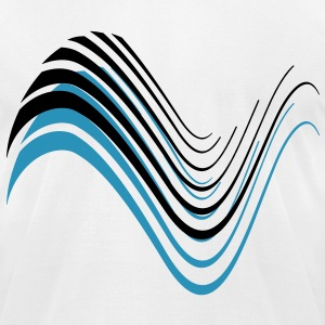 wave abstract T-Shirts - Men's T-Shirt by American Apparel