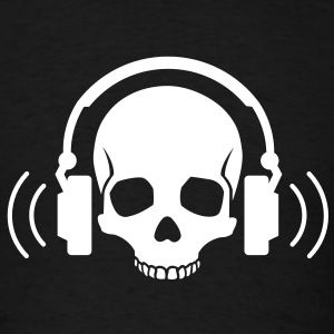 Skull Headphones T-Shirts - Men's T-Shirt