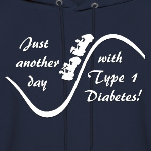 Just Another Day With Type 1 Diabetes - White Hoodies - Men's Hoodie