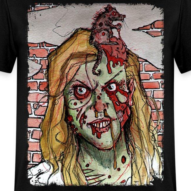 mens - zombie rat head