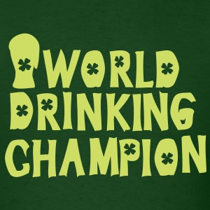 world drinking championcheers green beer Men's Sta - Men's T-Shirt