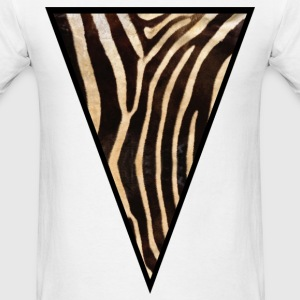 Triangle Zebra (Brown) - Men's T-Shirt
