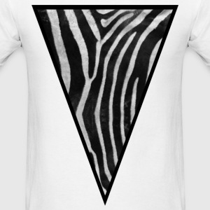 Triangle Zebra (Black n White) - Men's T-Shirt