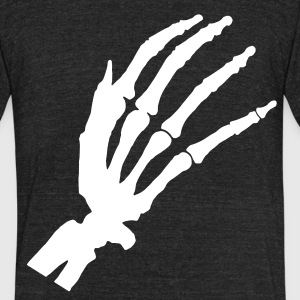 skeleton hand T-Shirts - Unisex Tri-Blend T-Shirt by American Apparel