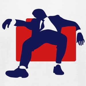 Silhouette Man Couch (2c)++2013 T-Shirts - Men's T-Shirt by American Apparel