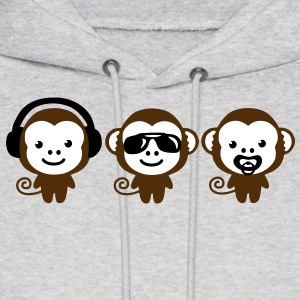three modern monkeys Hoodies - Men's Hoodie