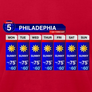 Philadelphia Weather T-Shirts - Men's T-Shirt by American Apparel