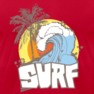 Surfs Up T-Shirts - Men's T-Shirt by American Apparel