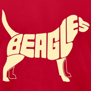 Beagle Dog Art T-Shirts - Men's T-Shirt by American Apparel
