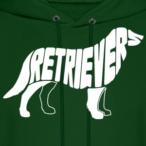 Retriever Dog Art Hoodies - Men's Hoodie