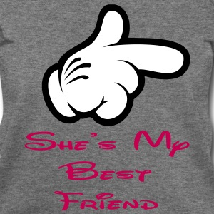she is my best friend Long Sleeve Shirts - Women's Wideneck Sweatshirt