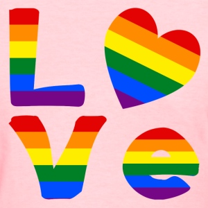 Gay Pride LOVE - Women's T-Shirt