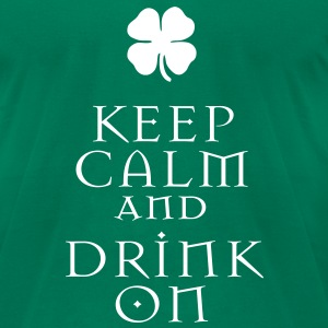 KCCO - ST Patrick's Keep Calm and Drink On T-Shirts - Men's T-Shirt by American Apparel