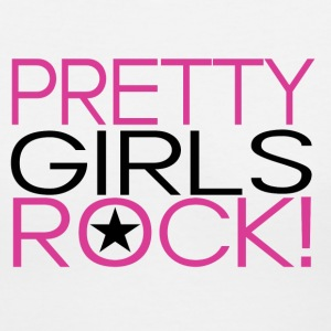Pretty-Girls-Rock-Pink.gif Women's T-Shirts - Women's V-Neck T-Shirt