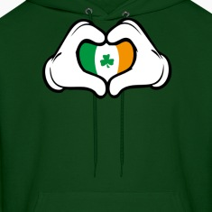irish hreart hand Hoodies