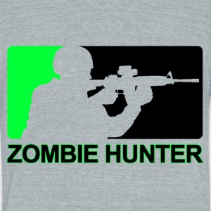 Zombie Hunter - Unisex Tri-Blend T-Shirt by American Apparel