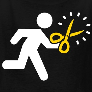 Runs with Scissors - Kids' T-Shirt