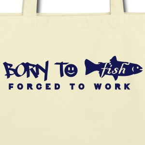 born to fish (G, 1c) Bags  - Eco-Friendly Cotton Tote