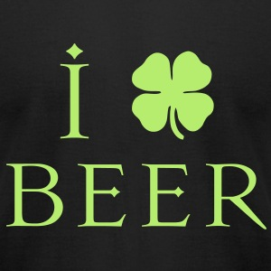 KCCO - I Heart-Love Beer St Patricks T-Shirts - Men's T-Shirt by American Apparel