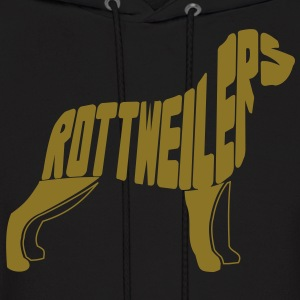 Rottweiler Dog Art Hoodies - Men's Hoodie
