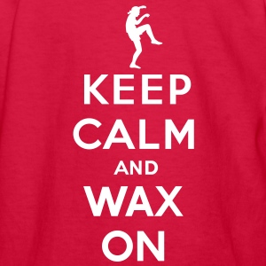 Keep calm and wax on  Karate Kid  Crane technique Kids' Shirts - Kids' Long Sleeve T-Shirt