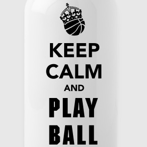 Keep Calm and Play Basketball Bottles & Mugs - Water Bottle