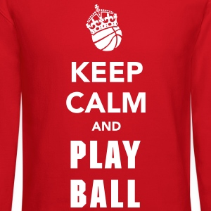 Keep Calm and Play Basketball Long Sleeve Shirts - Crewneck Sweatshirt