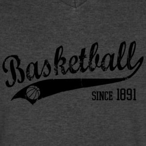 Basketball since 1891 Slogan black T-Shirts - Men's V-Neck T-Shirt by Canvas
