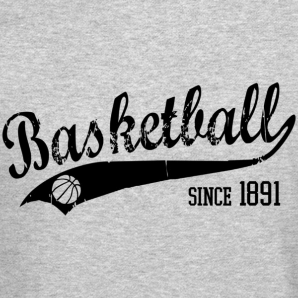 Basketball since 1891 Slogan black Long Sleeve Shi - Crewneck Sweatshirt