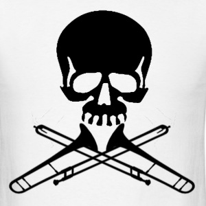 Skull with Trombone Crossbones - Men's T-Shirt