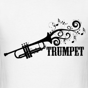 Trumpet with Swirls - Men's T-Shirt