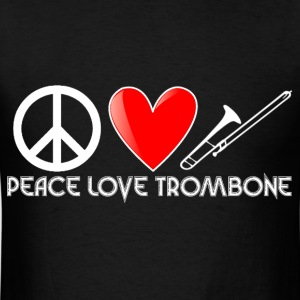Peace, Love, Trombone - Men's T-Shirt