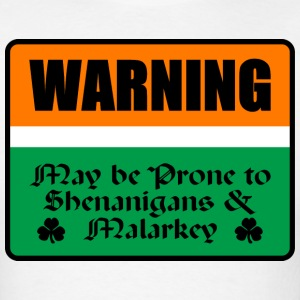 St Patricks Warning - Men's T-Shirt