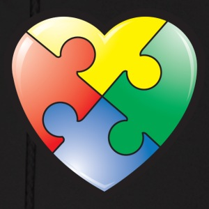 Autism Awareness Heart Hoodies - Men's Hoodie