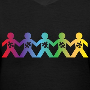 Autism Hand Holding Women's T-Shirts - Women's V-Neck T-Shirt