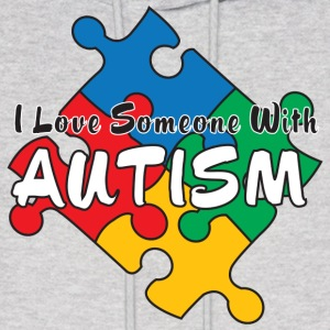 I Love Someone with Autism Hoodies - Men's Hoodie