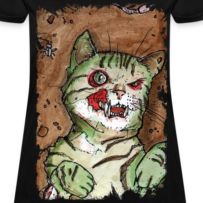 womens green zombie cat