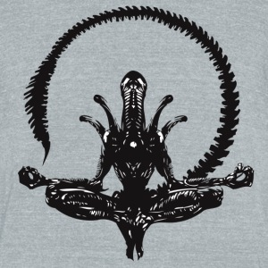 Zen Alien - Unisex Tri-Blend T-Shirt by American Apparel