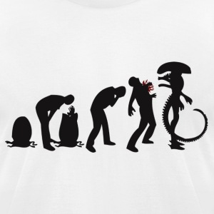 Alien Evolution - Men's T-Shirt by American Apparel