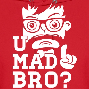 Like a swag cool u mad story bro moustache style Hoodies - Men's Hoodie